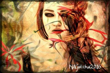 freetoedit picsart layers woman redhead
