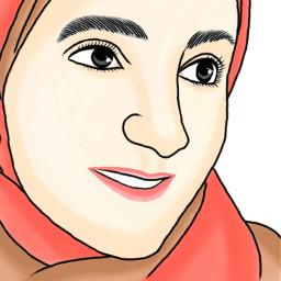 freetoedit outline face art arab