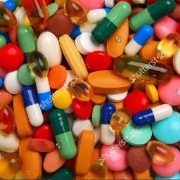 colorful tablets pills medicine health