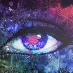 ice cold eyes colorful colourpowder