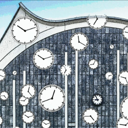 freetoedit building avantgarde clocks watercoloreffect