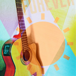 thesun forever guitar abstract music freetoedit