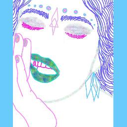 luzpavon lineart drawing vaporart doodle