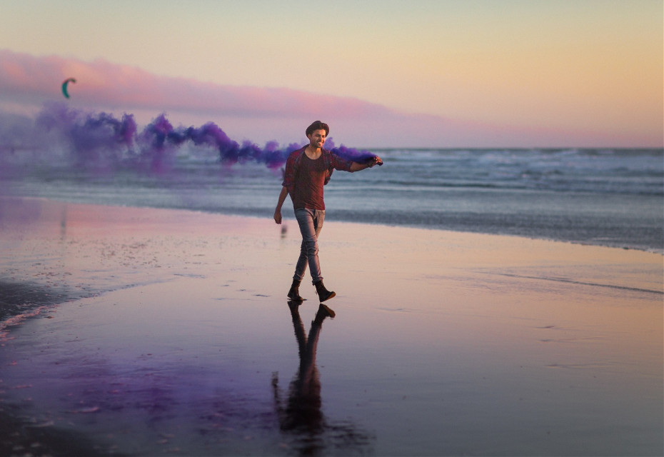 Bring your splash of creativity and give wings to your imagination.  Unsplash (Public Domain)  #FreeToEdit #human #boy #sky #blue #portrait #stylish #nature #man #young #sea #water