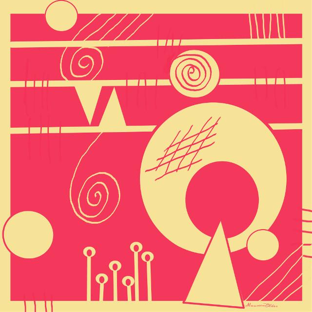 Rhubarb with custard   #wdptwotone  #abstract #patterns  #geometric #geometricart #digitaldrawing #drawing  #rhubarb  #custard