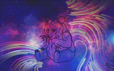 galaxypanda glow panda galaxy space