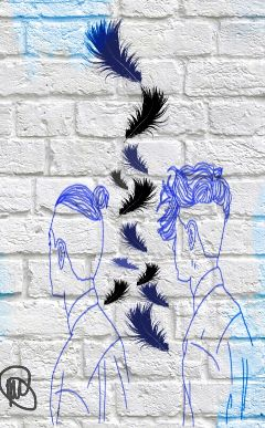 hairstyle manbun feathers boys hair
