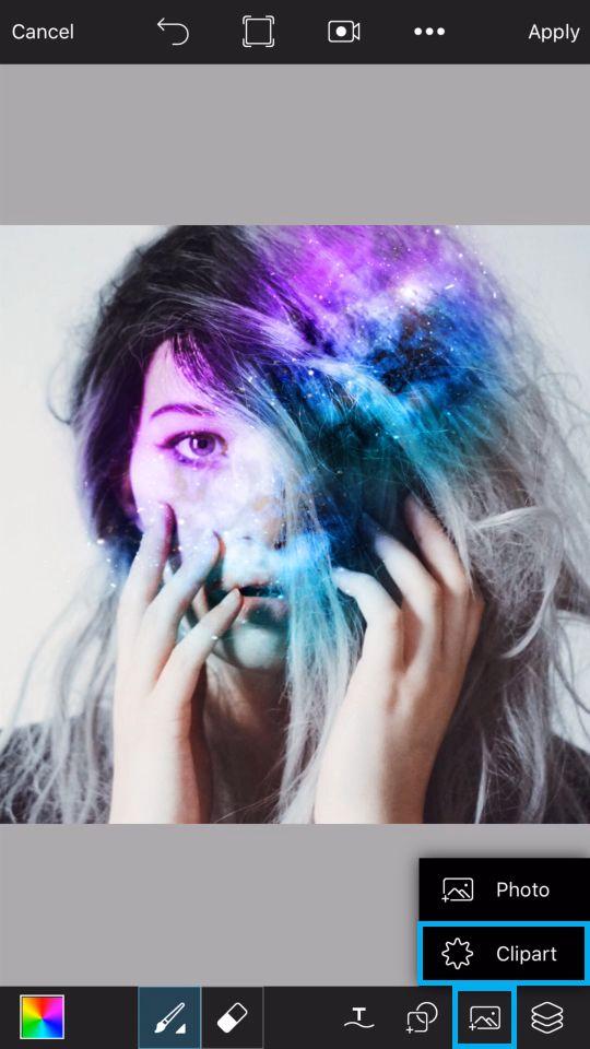 PicsArt Tutorial - Galaxy Skull 9