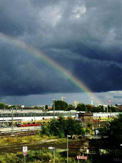 hometown berlin rainbow photography city