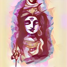 interesting art painting colours god
