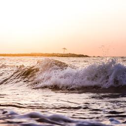 sea sunrise wave landscape beautiful