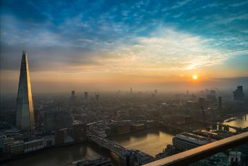 shard london sunset blueskys sky freetoedit