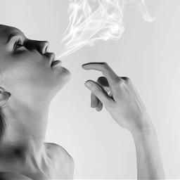 freetoedit interesting oilpainting smoke blackandwhite