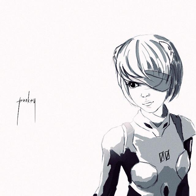 Pilot - 00 #original #manga #popart #comics #monochrome #evangelion #anime