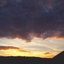 sunset sky clouds freetoedit