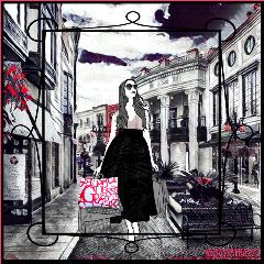 remix girl blackandwhite rodeodrive shopping
