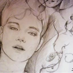 boy guy sketchbook draw art