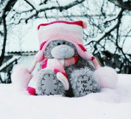 freetoedit teddybear scarf snow white